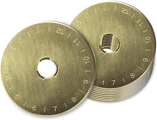 f/ür Stoff Ersatzklingen f/ür Rollschneider 10 St/ück Papier 45 mm Leder