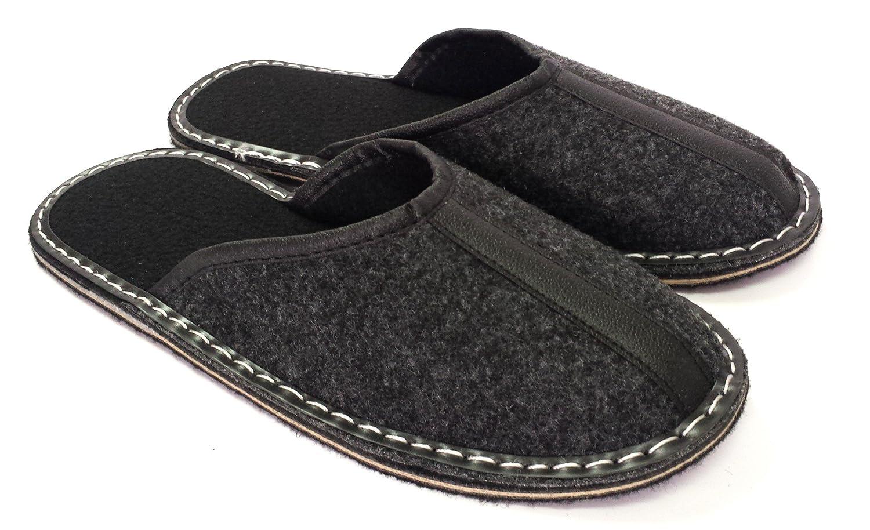 Revise Pantoufles en Feutre - Chaussures Maison pour Hommes - Semelle en Gomme – Taille 40 à 50