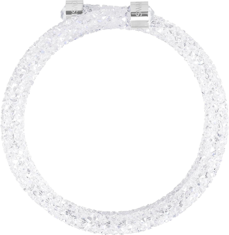 Swarovski Bracelet-jonc Crystaldust Double, blanc