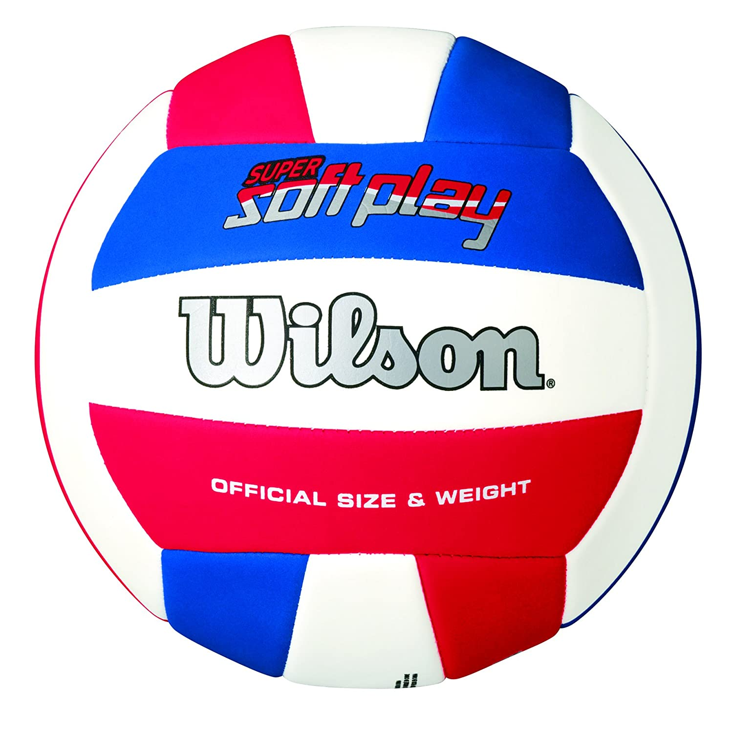 Wilson Super Soft Play - Pelota, color rojo/blanco / azul, talla única Wilson Teamsport WTH3595ID