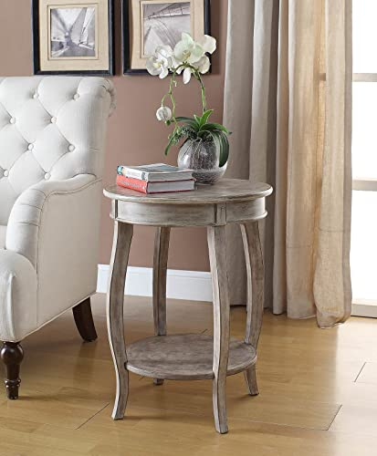 Yvonne Round Table in White-Washed Lime