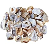 rockcloud Natural Agate Geodes,Druzy Crystal Cluster,Rough Stones for Jewelry Making or Home Decor,1 Pound