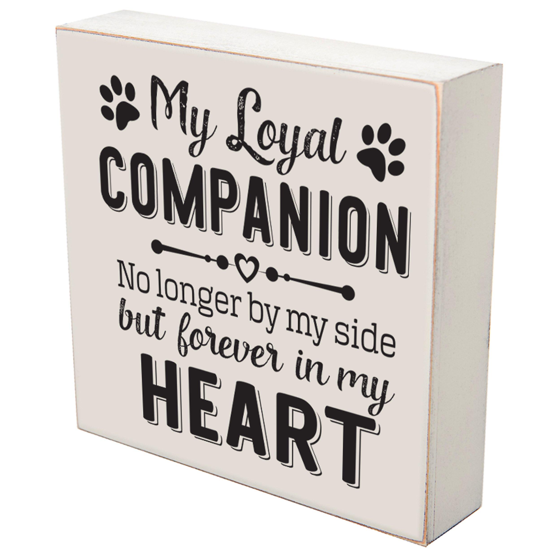 LifeSong Milestones My Loyal Companion No Longer By My Side loss of pet dog cat memorial gift keepsake shadow box 6x6 by (My Loyal Companion)