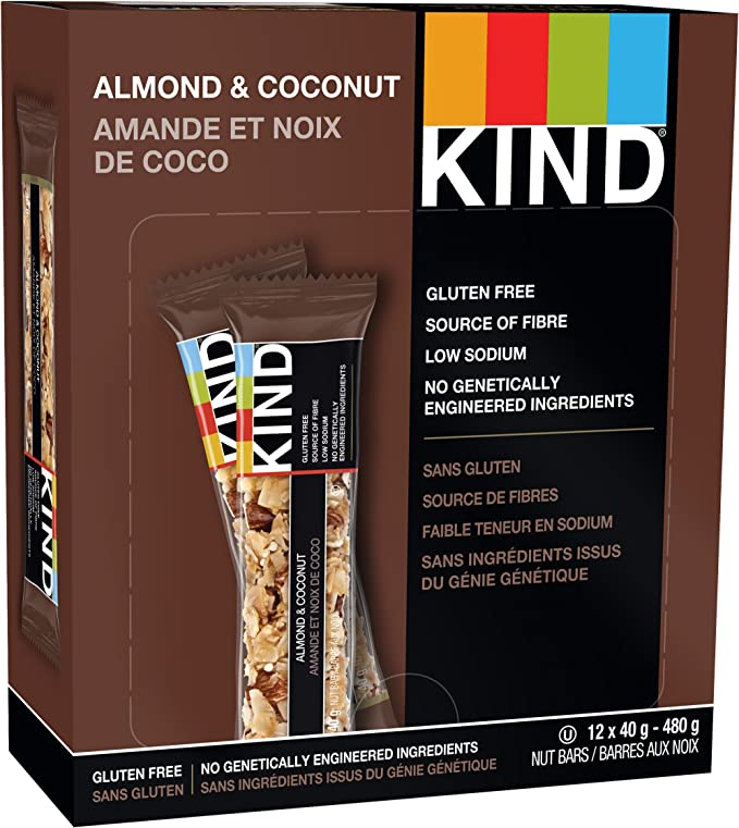 KIND Bars Almond and Coconut 12ct, Gluten Free, 40g