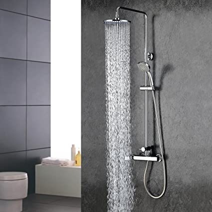 High Quality Wall Mount Contemporary Chrome Finish Rainfall Shower Faucet Bathroom  Plumbing Fixtures Bath Shower System Big Discount