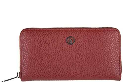 Armani Jeans monedero cartera bifold de mujer nuevo rojo: Amazon.es: Zapatos y complementos