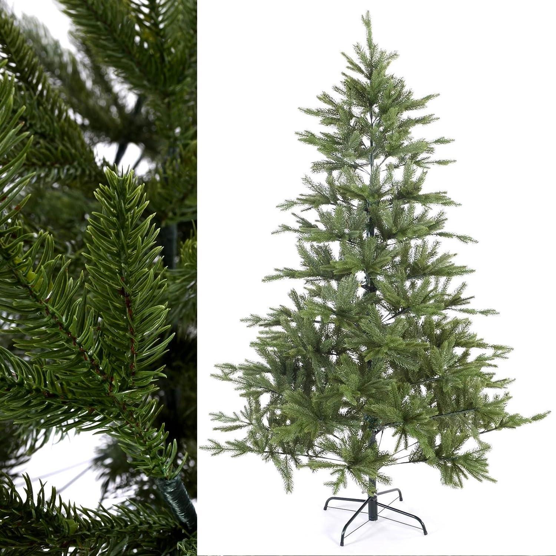 MACO Import Künstlicher Weihnachtsbaum 210 cm hoch Spritzguss - Plastik Tannenbaum 887 Zweige