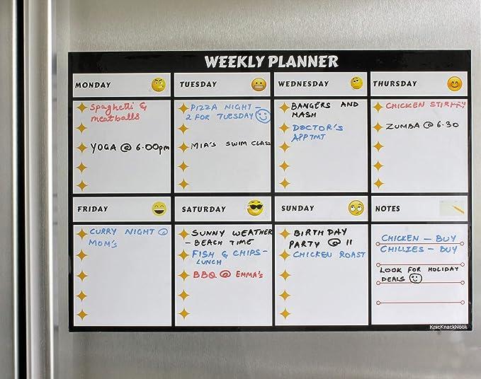Kühlschrank Wochenplaner : Amazon magnetisches whiteboard kühlschrank wochenplaner meal