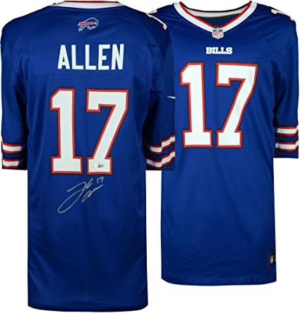 newest collection c2a46 99bd3 Josh Allen Buffalo Bills Autographed Blue Nike Game Jersey ...