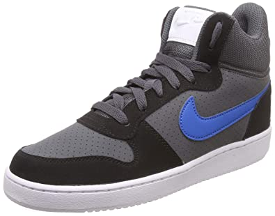 811830d46d976 Nike Men's Court Borough Mid D Grey/Blnebl Basketball Shoes-10 UK/India