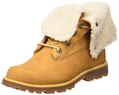 f4a7dfe74c78 Timberland Kids 6-Inch Waterproof Shearling Wheat Leather Boots 12.5 US