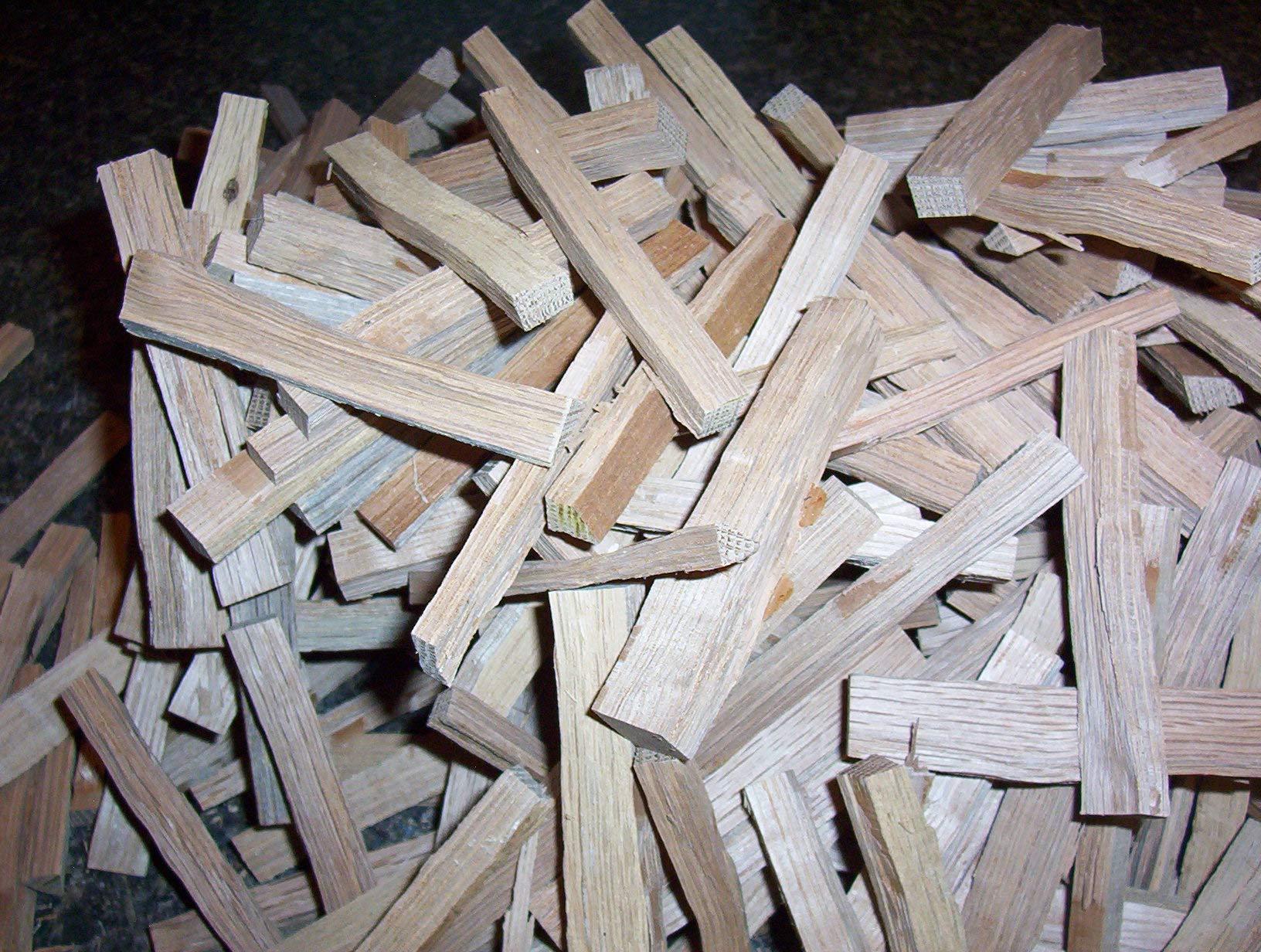 American White Oak Sticks, Kiln Dried. You Toast or Char, 2 Pounds