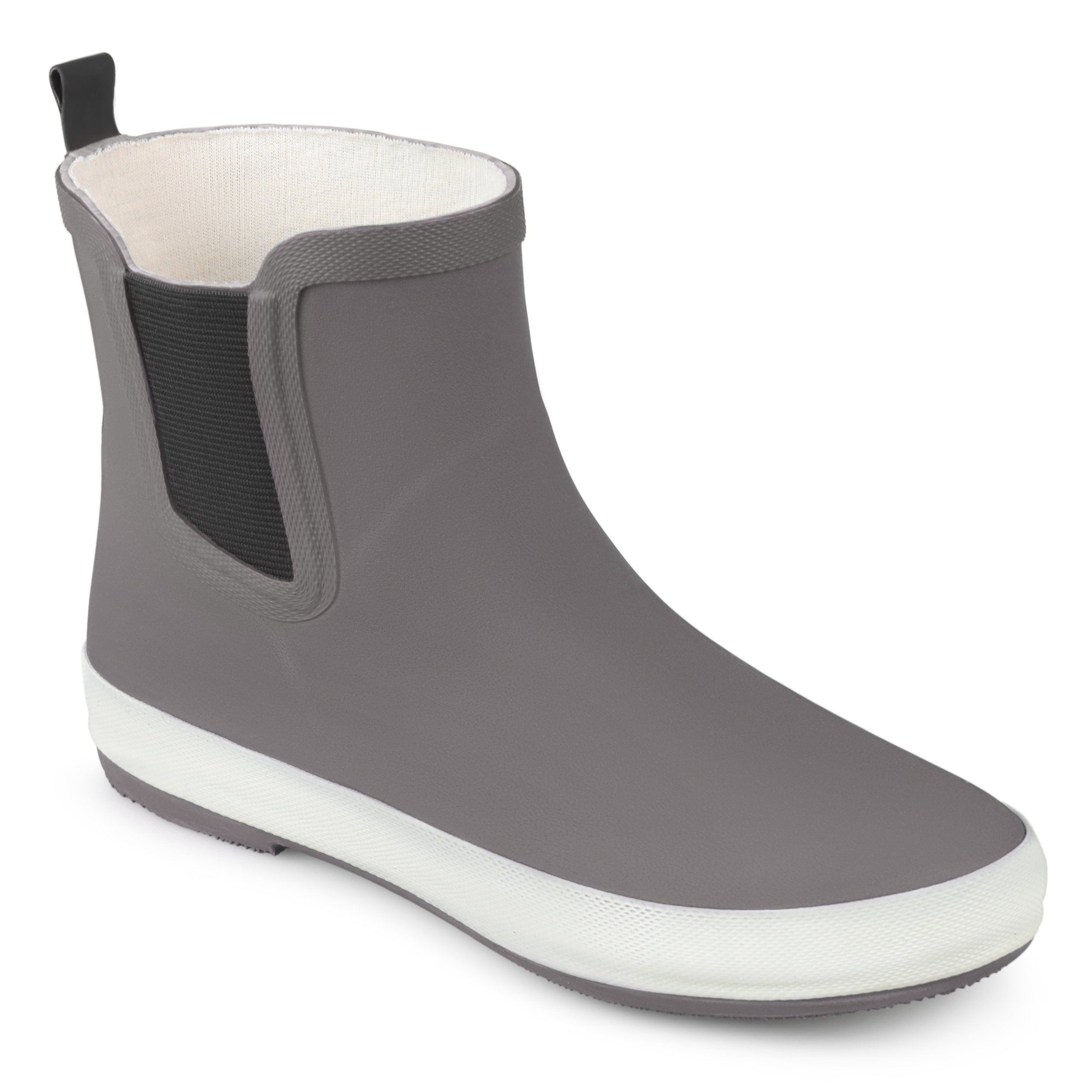 Brinley Co. Womens Samar Rubber Sporty Solid Color Rainboots Grey, 8.5 Regular US