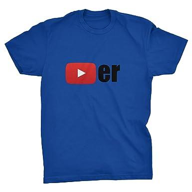 947f8026b5ae Youtube Player T-shirt: Amazon.co.uk: Clothing