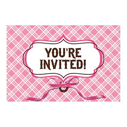 Creative Converting Heart My Horse Party Invitations 8 Count