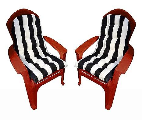 Amazon.com: Juego de 2 cojines para silla de exterior con ...