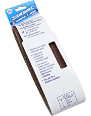 Silverline 433236 Bandas de lija 75 x 533 mm, 5 pzas Grano 80