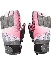 Ultrasport Rocky Guantes de Esquí Flexibles, con Una Gran Libertad de Movimientos, Impermeables, Resistentes Al Viento 6 y 14 Años, Niños