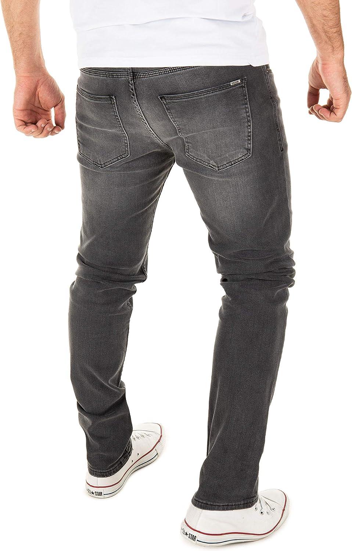 WOTEGA Mens Jeans for Man Jean Men Straight Pants Justin Grey (Magnet 193901)