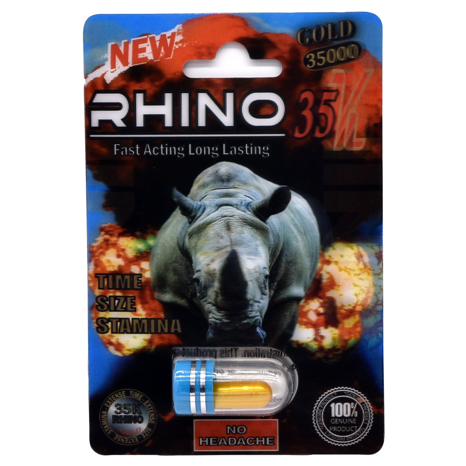 Rhino 35K Gold Fast Acting Long Lasting Male Enhancement Pill