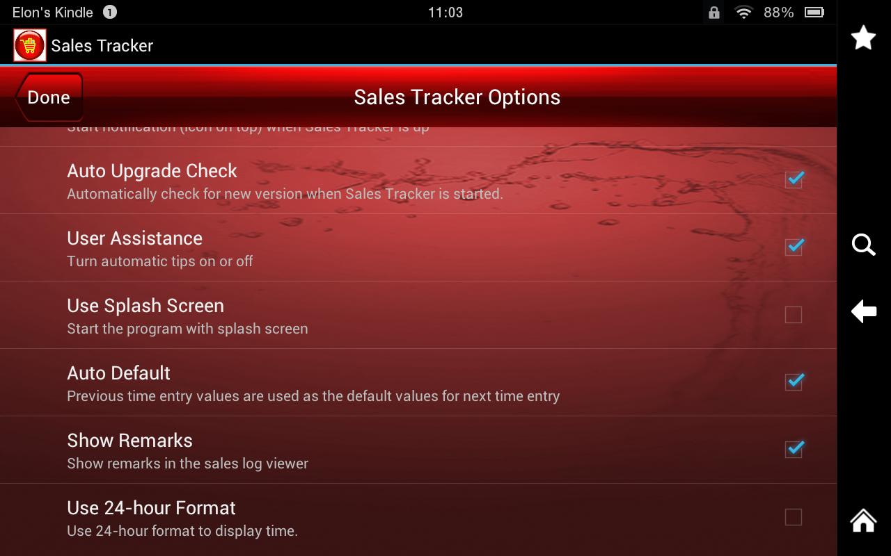 sales tracker