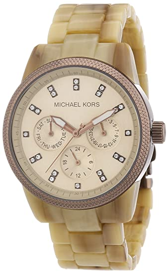 Michael Kors Ritz Multifunktion MK5641 - Reloj analógico de cuarzo para mujer, correa de plástico