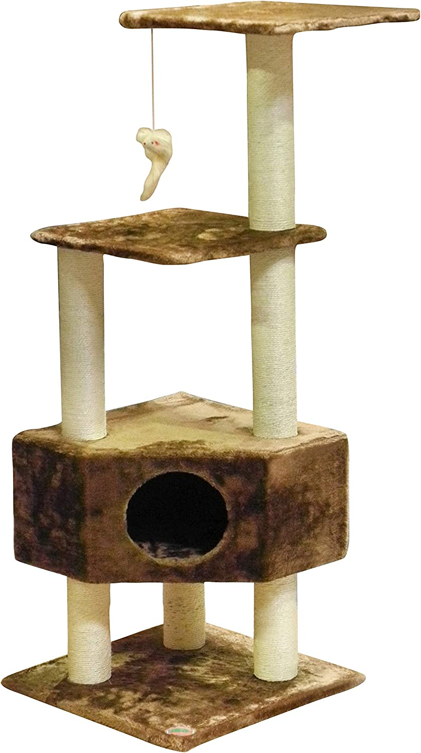 Amazon.com: Go Pet Club - Árbol para gato, Marrón: Mascotas