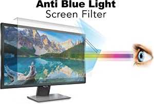 Anti Blue Light Screen Filter for 21.5 Inches Widescreen Desktop Monitor, Blocks Excessive Harmful Blue Light, Reduce Eye Fatigue and Eye Strain