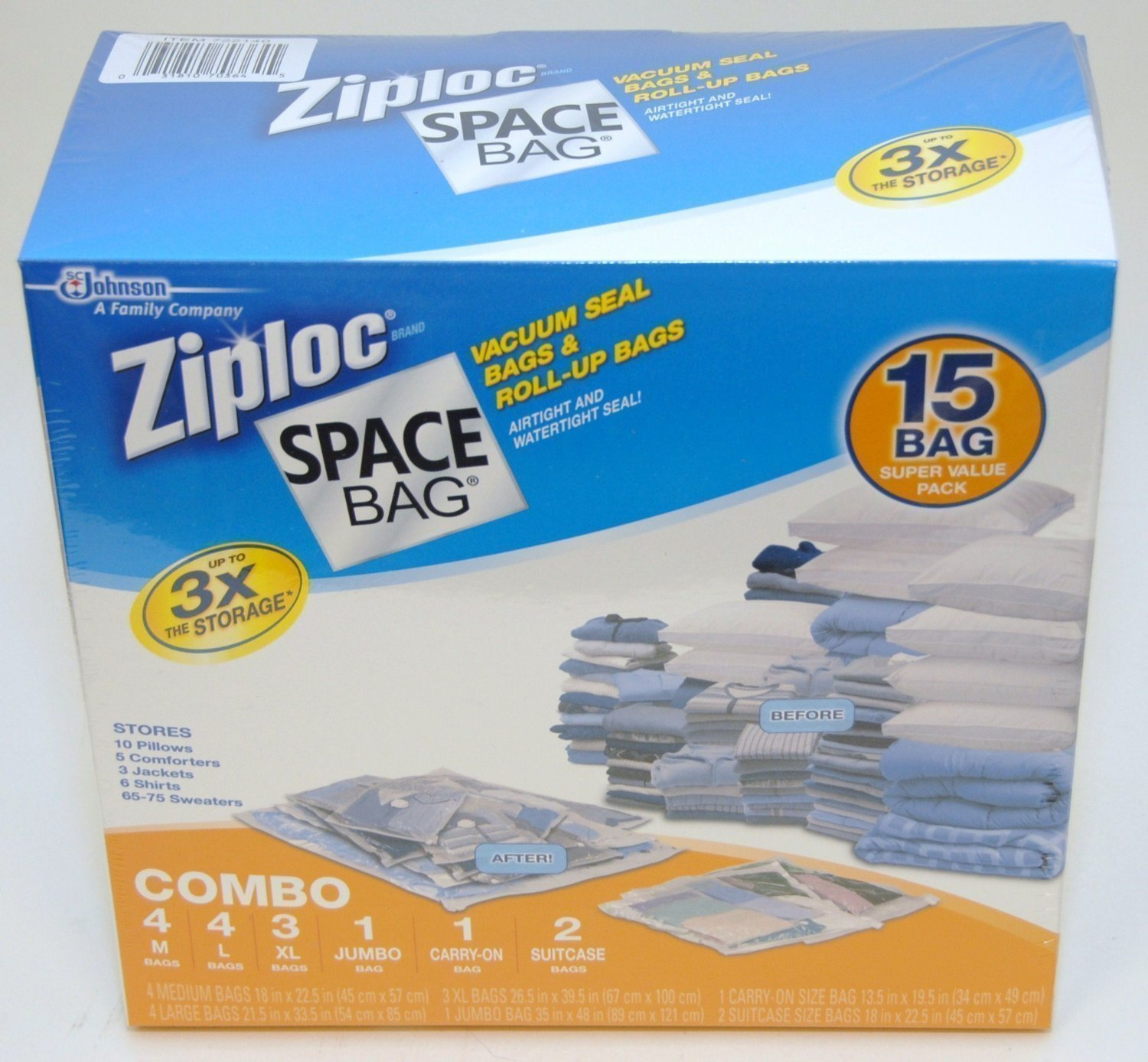 Ziploc Space Bag 30 Bag Space Saver Set (m5tk2q)