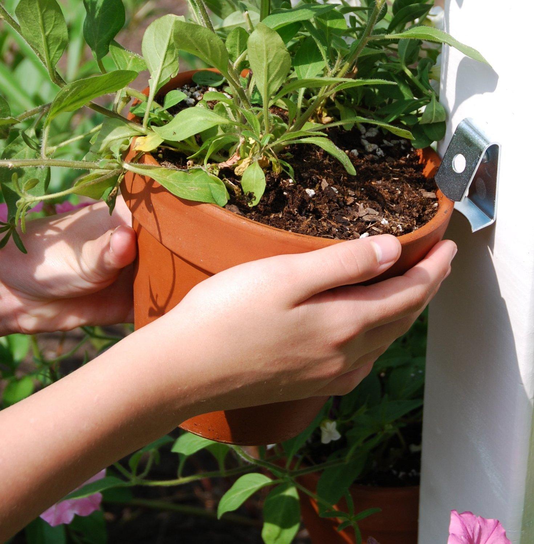 Flower Pot Ring Holder In Metal Wrought Iron Hooks