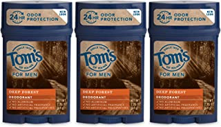 product image for Tom's of Maine Men's Long Lasting Wide Stick Deodorant, Deep Forest, 2.25 Ounce (Pack of 3)