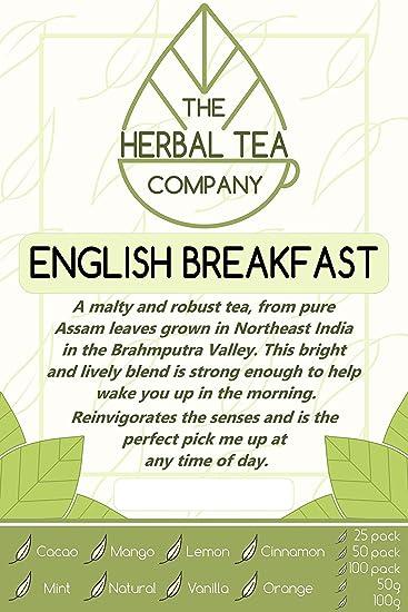 Amazon com : Star Fruit English Breakfast Tea Blend Tea Bags With
