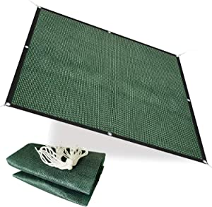Alion Home 75% Sunblock Sun Shade Plant Cover UV Resistant Durable Shade Net Panel for Garden, Greenhouse, Flower, Barn, Kennel, Fence - Green (6' x 6')