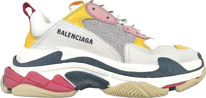 Balenciaga - Zapatillas unisex Sneakers Oversize Triple S 524038 W09O5 de piel y tela Multicolor Size: 40 EU: Amazon.es: Zapatos y complementos