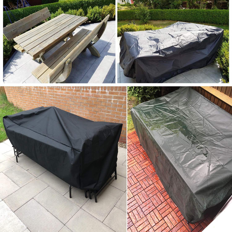 GreenEur Funda para Muebles de Exterior Cubierta Protectora de Polvo Agua Solar para Barbacoa sofá sillas de Exterior (126 x 126 x 74 CM)