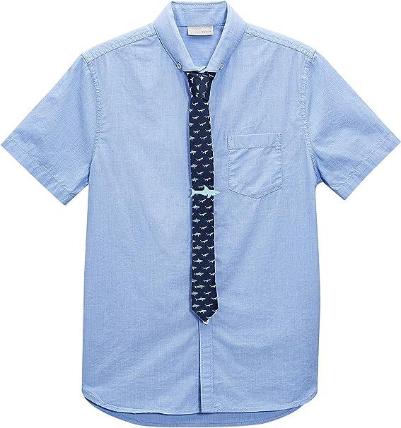 next Niños Conjunto De Camisa Manga Corta Azul Y Corbata (3-16 ...