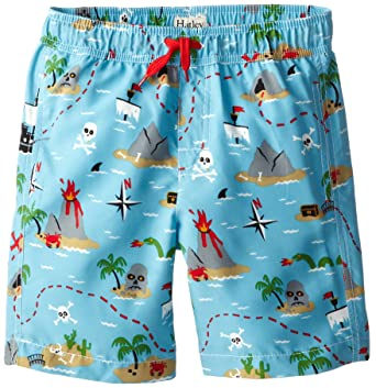 74cebc793d705 Amazon.com: Hatley Boy's Swim Trunks - Treasure Island: Clothing