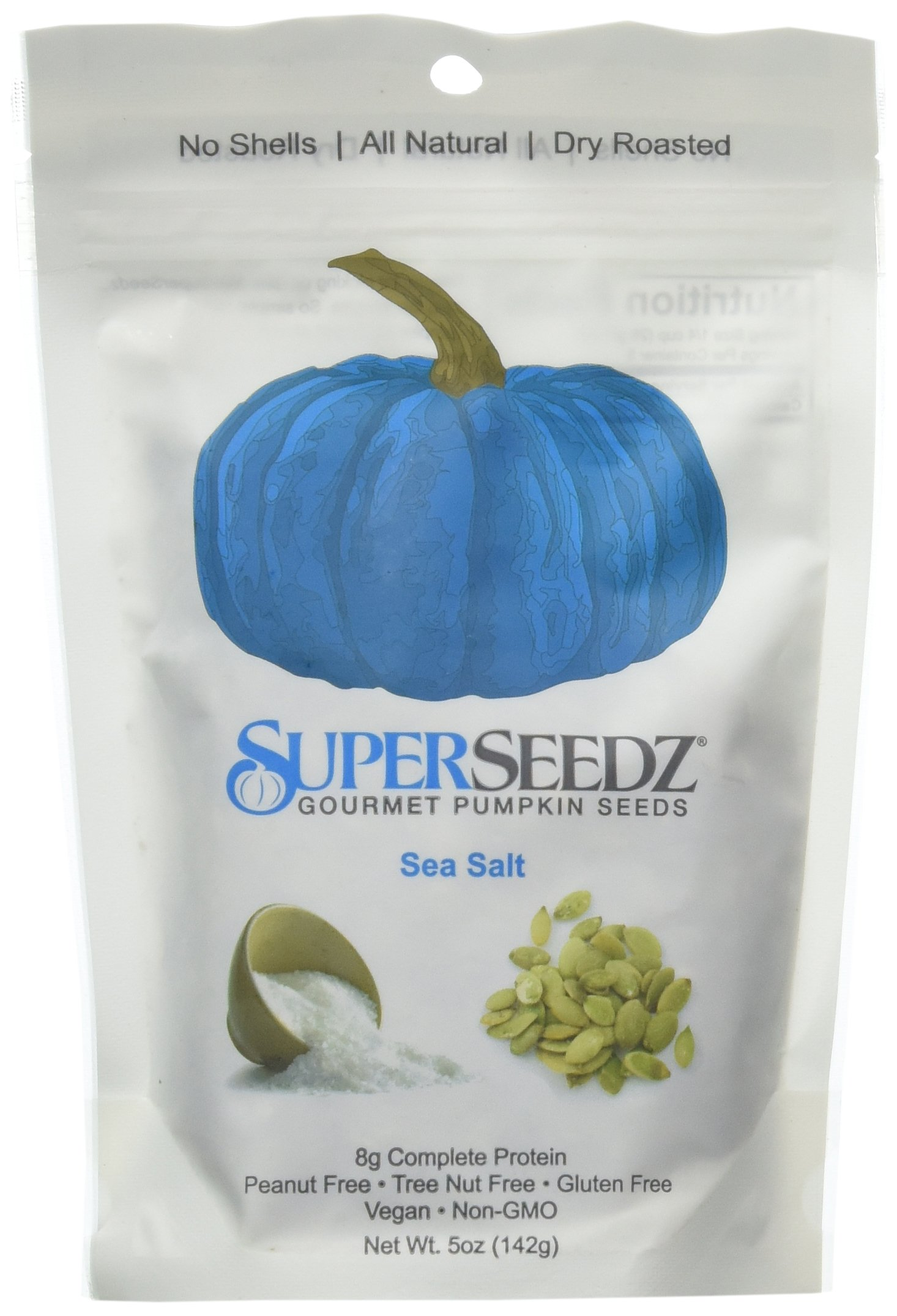 Pumpkin Seeds Roasted Sea Salt -Pack of 6(5oz) by SuperSeedz (Image #1)