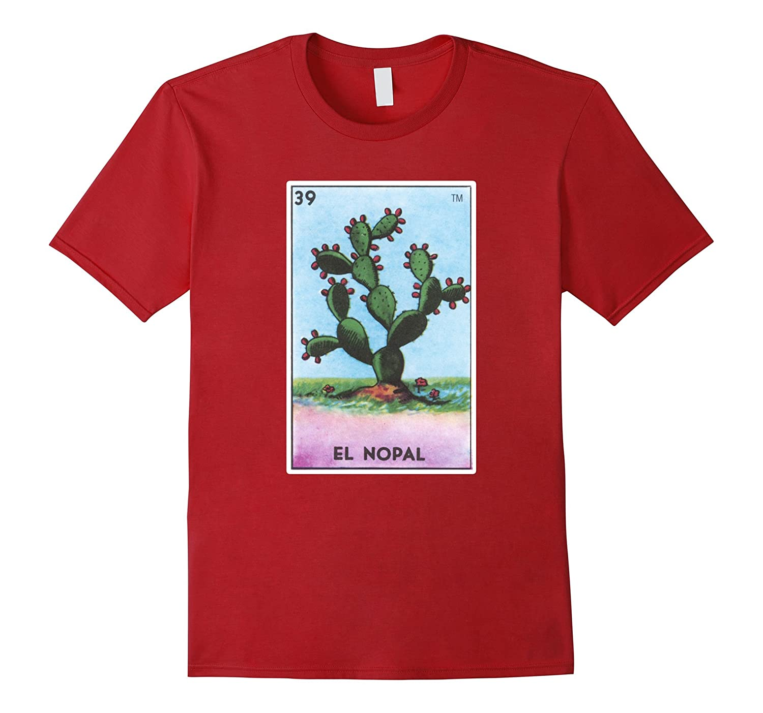 102b63f77 El Nopal Card T-Shirt Prickly Pear Cactus Loteria Tarot-T-Shirt ...