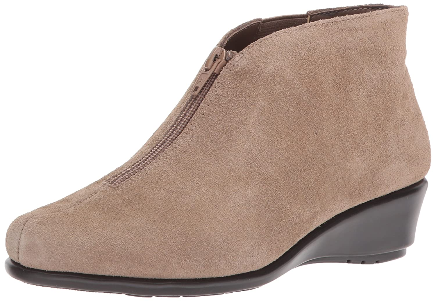 Aerosoles Women's Allowance Ankle Boot B06Y5ZKLFK 12 W US|Taupe Suede