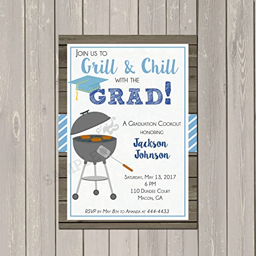 amazon com graduation bbq cookout invitation highschool or college