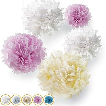 10er Set Premium Seidenpapier Pompons Deko Fur Ihre Hochzeit Und
