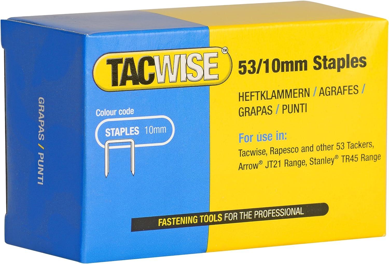 TACWISE Heftklammern 53//10 mm 2.000 Stück verzinkt