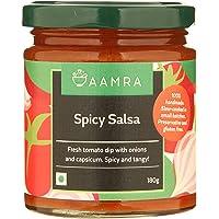 Aamra Spicy Salsa, No Artificial Preservatives, Gluten-Free- 180 grams
