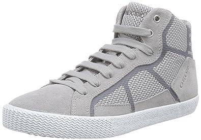 Geox J Smart Boy C, Sneaker Alta Bambino, Grigio (Grau (Dove