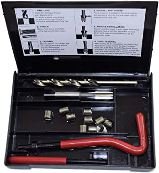 """5//16/"""" x 24 UNF Imperial Tap Repair Cutter Kit Helicoil Damaged Threads 14pc Kit"""