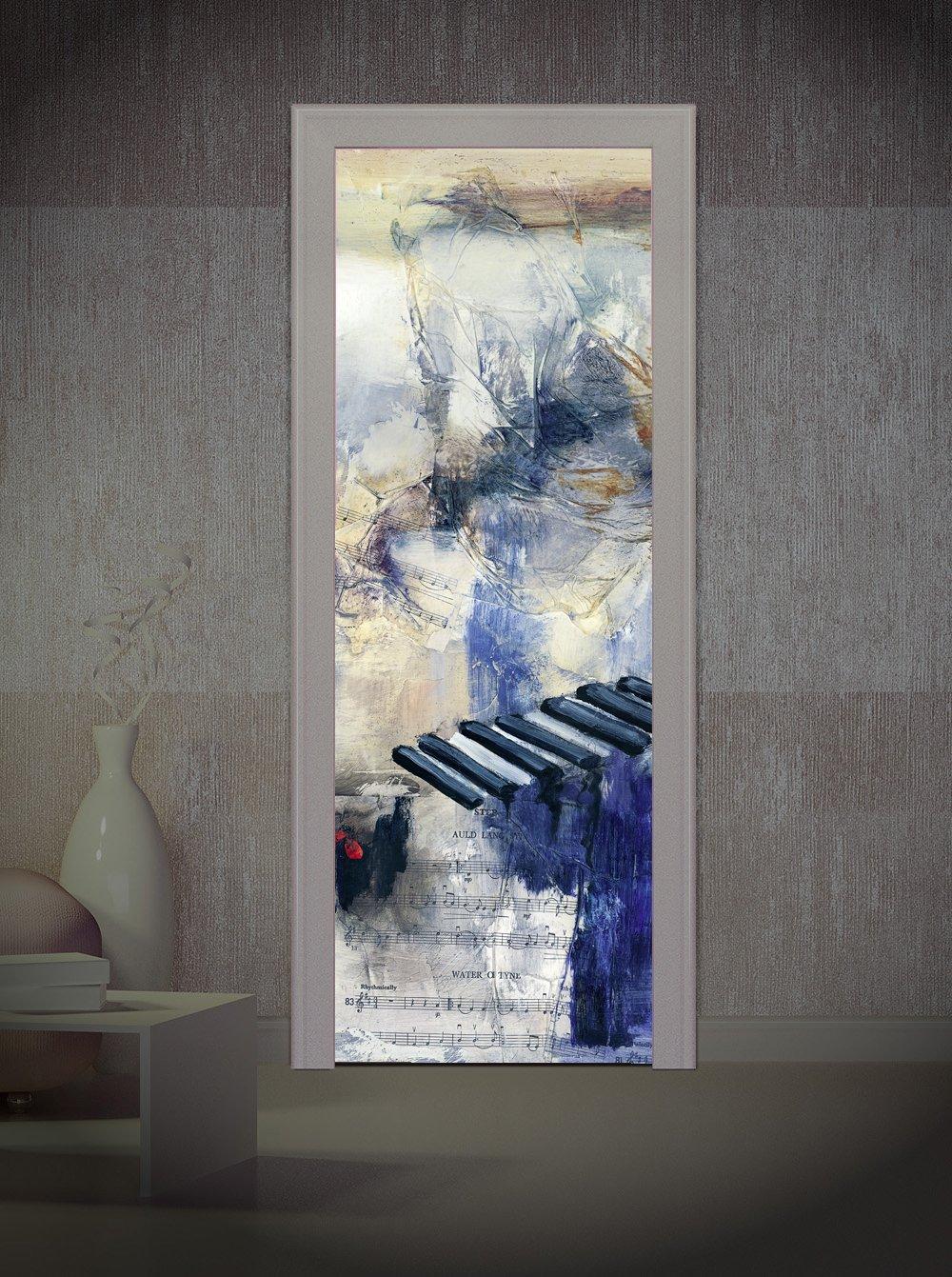 Decoralive Cenefa Vetas - Imagen para Puerta, 83 x 211 x 0.05 cm: Amazon.es: Hogar