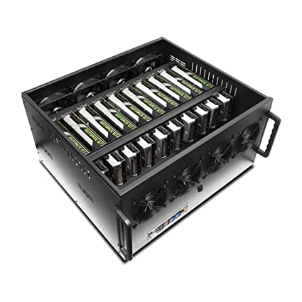 Amazon com: Hydra VIII Modular 6 5U Case for 10 GPU Mining Rendering