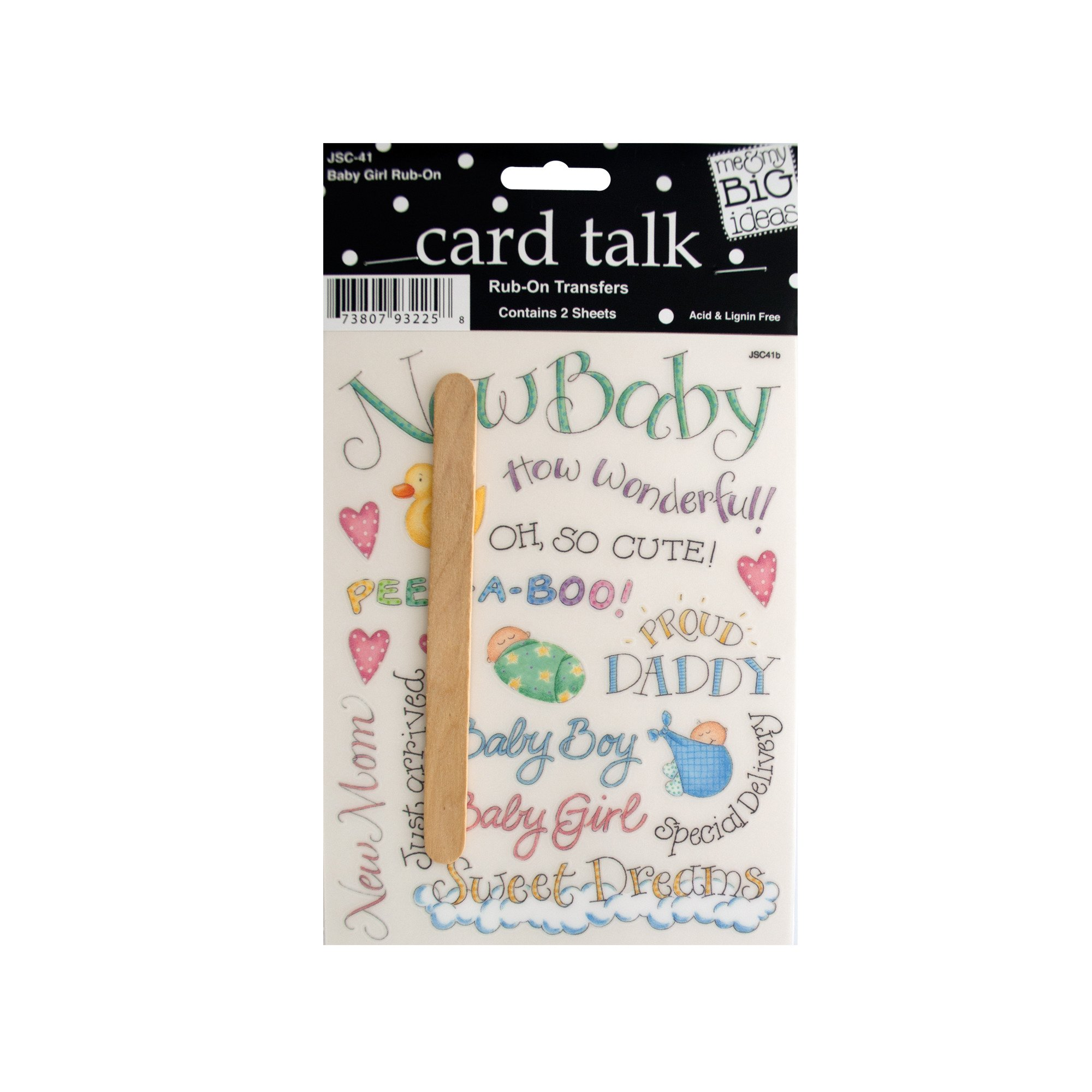 123-Wholesale - Set of 48 Baby Girl Rub-On Transfers - Scrapbooking Rub-ons by 123-Wholesale