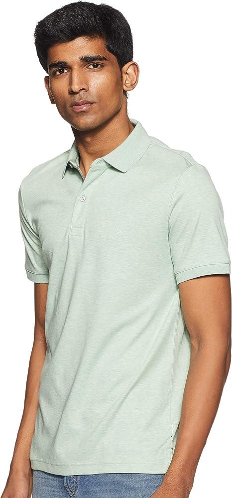 Calvin Klein Polo Verde Claro con Logotipo Blanco: Amazon.es: Ropa ...